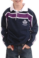 Children's Rugby Shirt with Purple Stripe