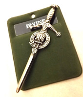Art Pewter Clan Crest Kilt Pin