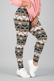 Pattern Print Leggings || 5