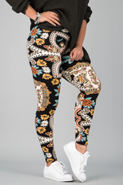 Pattern Print Leggings || 9