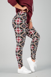 Pattern Print Leggings || 18