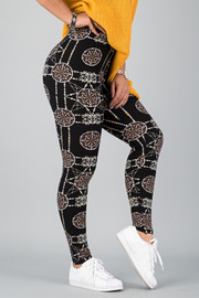 Pattern Print Leggings || 25