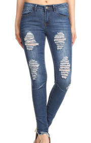 Alexa 2 Ankle  Distressed Denim