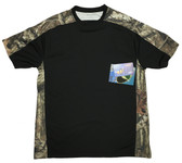 Bimini Bay Outfitters Pieced Camo Crew Short Sleeve Shirt