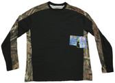 Bimini Bay Outfitters Pieced Camo Crew Long Sleeve Shirt