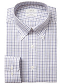 Enro Non-Iron Button Down Collar Index Dobby Check Dress Shirt