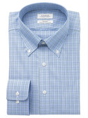 Enro Non-Iron Button Down Collar Malden Check Dress Shirt