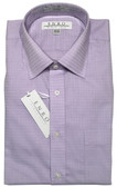 Enro Non-Iron Spread Collar Lavender Check Dress Shirt