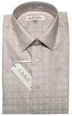 Enro Non-Iron Spread Collar Grey Tonal Grid Dress Shirt