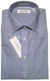 Enro Non-Iron Spread Collar Blue Check Dress Shirt