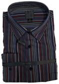 Fusion Black/Burgundy/Blue Stripe Sportshirt