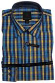 Fusion Aqua/Yellow Check Sportshirt