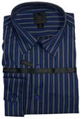 Fusion Silver/Royal Stripe Big & Tall Sportshirt