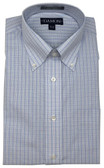 Enro/Damon Ultra Poplin Button Down Collar Blue Check Dress Shirt - 156718