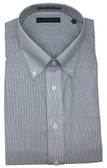 Enro/Damon Ultra Poplin Button Down Collar Light Blue Check Dress Shirt - 162388