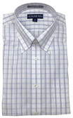 Enro/Damon Ultra Poplin Button Down Collar Purple Check Dress Shirt - 130146