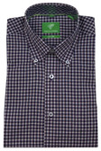 Forsyth of Canada Classic Fit Non-Iron Long Sleeve Mini Check Sport Shirt 8233-PLM