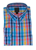 Fusion Blue Multi Check Sportshirt