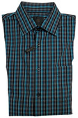Fusion Black and Teal Check Sportshirt