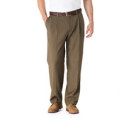 Haggar Reprieve Stria Pleated Front Big Size Men's Pants