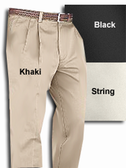 Haggar Premium Khaki Pleated Front Big Size Men's Pants