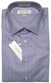 Enro Non-Iron Spread Collar Wide Herringbone Stripe Dress Shirt