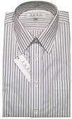 Enro Non-Iron Regular Collar Purple and Black Stripe Dress Shirt