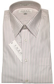 Enro Non-Iron Regular Collar Pink/Black Stripe Dress Shirt