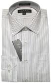 Enro Non-Iron Spread Collar White/Blue Stripe Dress Shirt