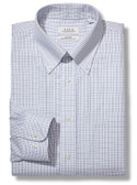 Enro Non-Iron Button Down Collar Tattersal Check Dress Shirt