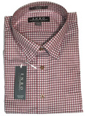 Enro Non-Iron Hidden Button Down Collar Red Check Big & Tall Sportshirt