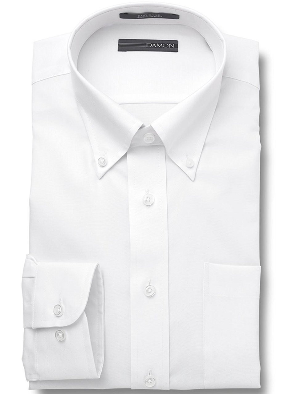 84c97446248 ... Pinpoint Oxford Button Down Collar Solid Color Big   Tall Size Dress  Shirt - 164176. White