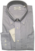 Enro Non-Iron Button Down Collar Grey Mini Check Dress Shirt