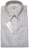 Enro Non-Iron Regular Collar Purple/Black Stripe Dress Shirt
