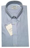 Enro Non-Iron Button Down Collar Light Blue Striped Dress Shirt