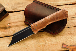 Norse Artefakt: Druzil Friction Folder with Textured Copper Handles         C