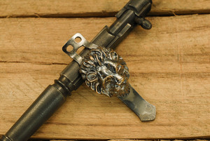 Steel Flame Flashlight Clip - XL Guardian Lion