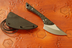 Norse Artefakt: Krummax Neck Knife with Black G10 handles