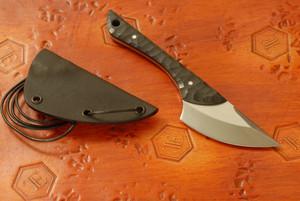 Norse Artefakt - Krummax Neck Knife with Black G10 handles