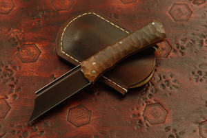 Norse Artefakt - Druzil Friction Folder with Textured Copper Handles Reddish