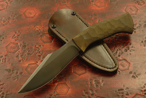 Jason Knight - Small Kukri Green Textured