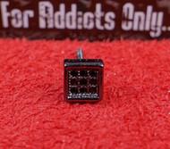 9 Gem Square Black on Black Custom Earring