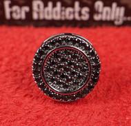 47 Black Gem Round Custom Earring