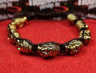 9 Gold Buddha Head Bracelet