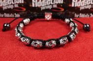 12 Silver Skull Bracelet