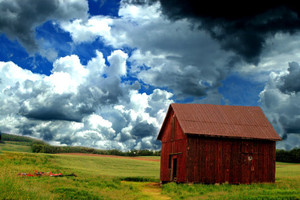 Barn Before The Storm