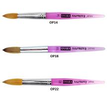 Osaka Kolinsky Brush with Purple Marble Handle