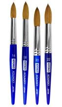 Kyoko Kolinsky Brush with Blue Marble Acrylic Handle