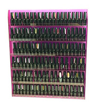6 Row Acrylic Nail Polish Wall Rack with Sign
