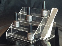 Acrylic Nail Polish Display Stand with Extra Box Holder